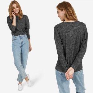Everlane marled long sleeve sweater XS wool blend